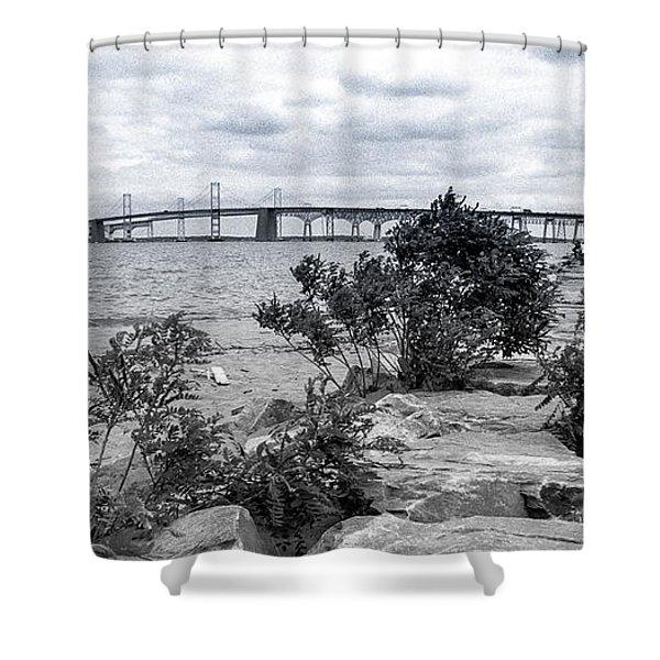 Traversing The Chesapeake Shower Curtain