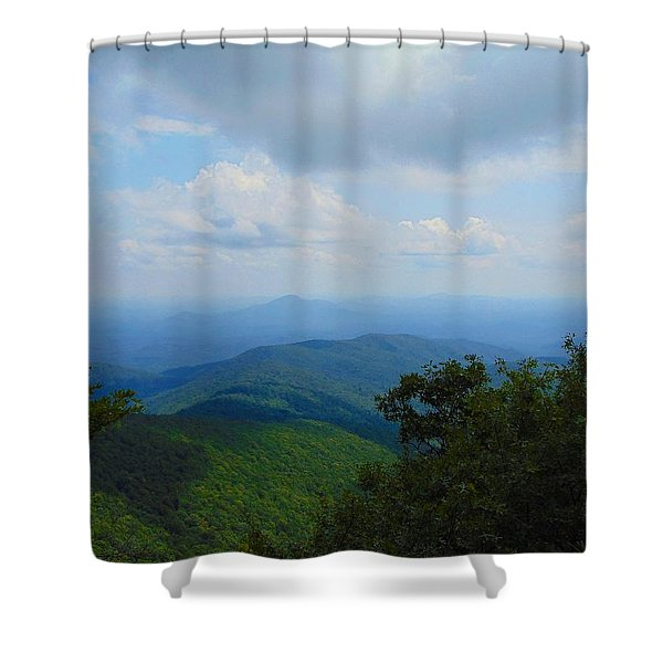 Tray Mountain Summit - North Shower Curtain
