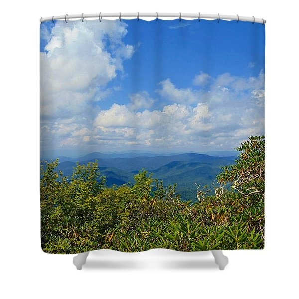 Tray Mountain Summit - South Shower Curtain