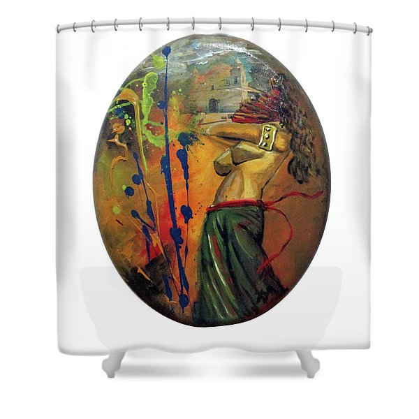 Trayectos Shower Curtain