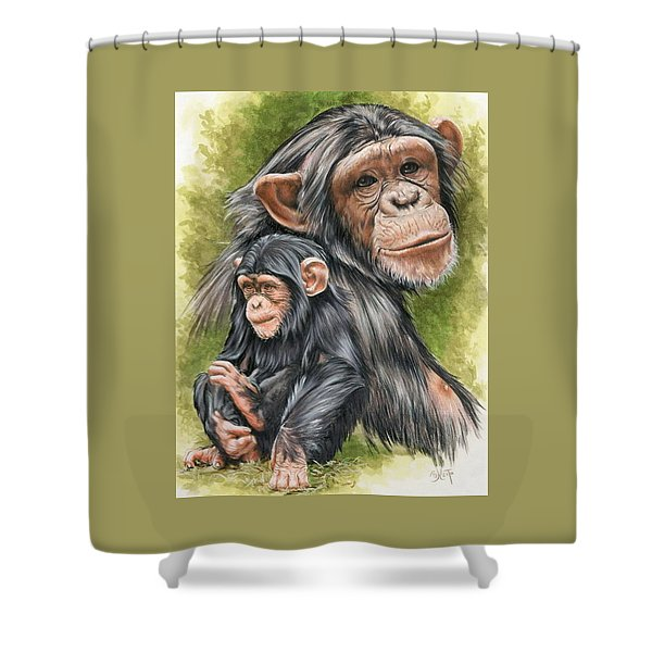 Shower Curtain featuring the mixed media Treasure by Barbara Keith