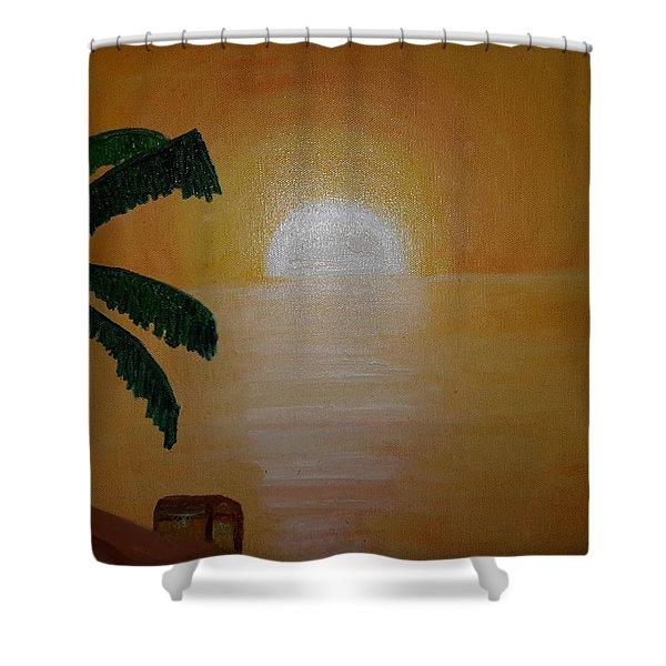 Treasure Chest Shower Curtain