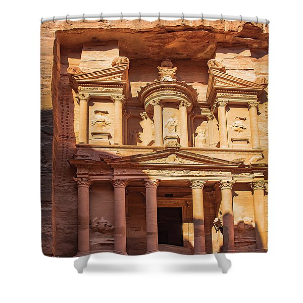Shower Curtain featuring the photograph Treasury Of Petra In Color by Mae Wertz