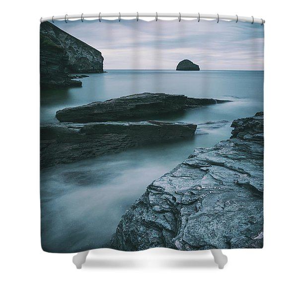 Trebarwith Strand II Shower Curtain
