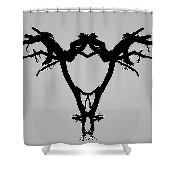 Tree Bird I Bw Shower Curtain
