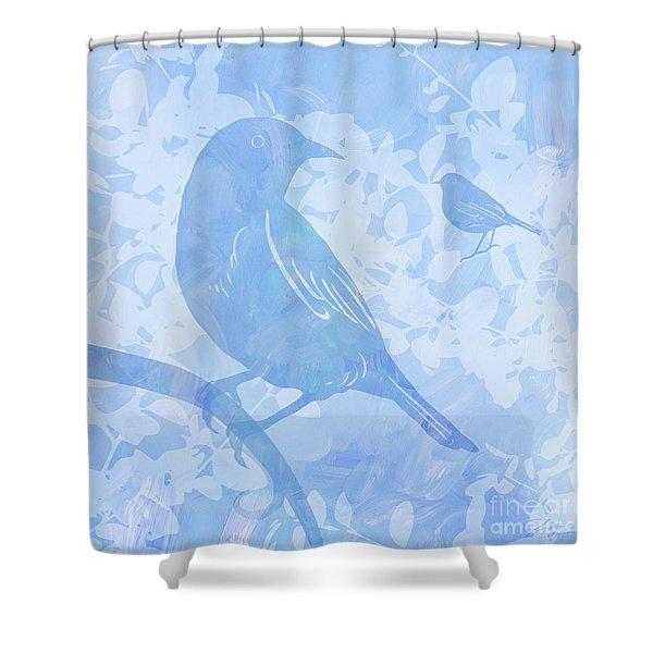 Tree Birds I Shower Curtain