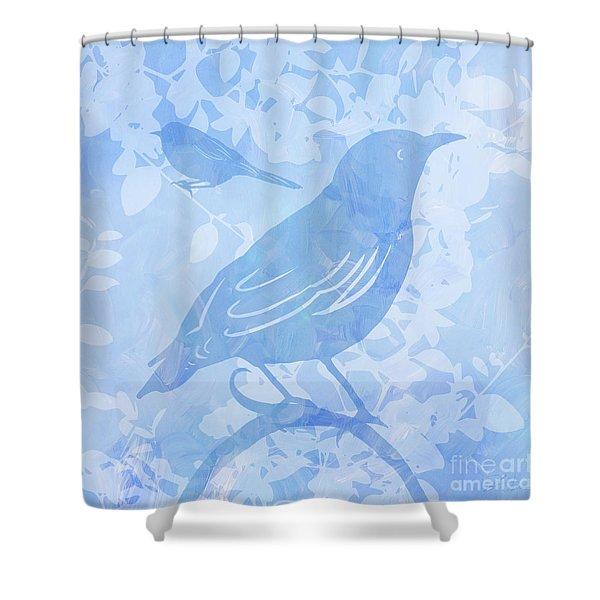 Tree Birds II Shower Curtain