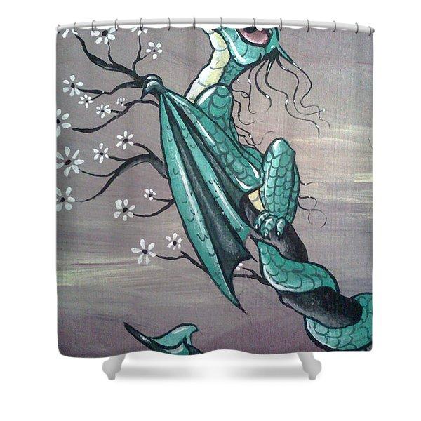Tree Dragon II Shower Curtain