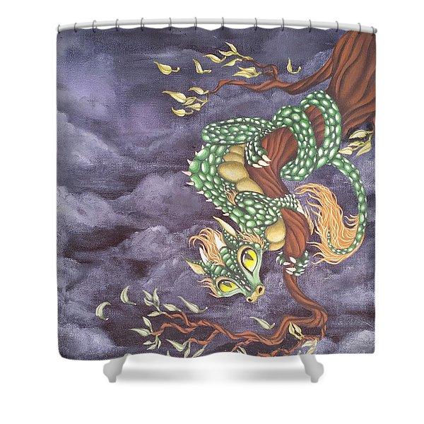 Tree Dragon Shower Curtain