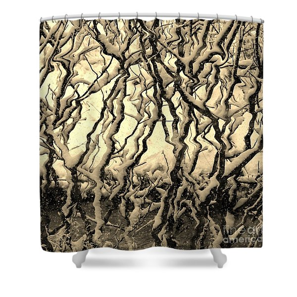 Tree Frenzy Shower Curtain