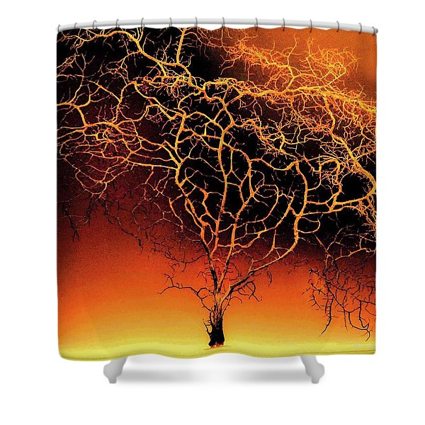Tree In Light Shower Curtain