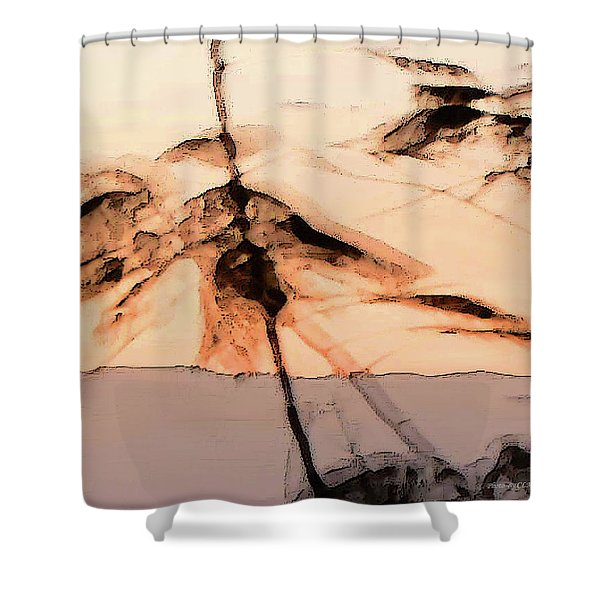Tree In Morning Shower Curtain