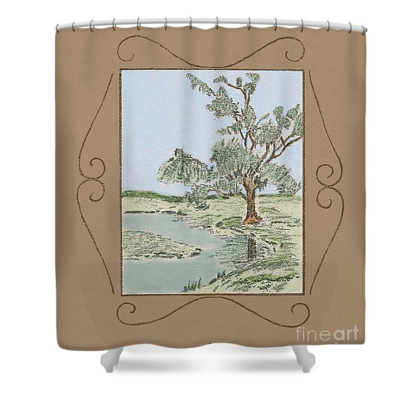 Tree Mirror In Lake Shower Curtain