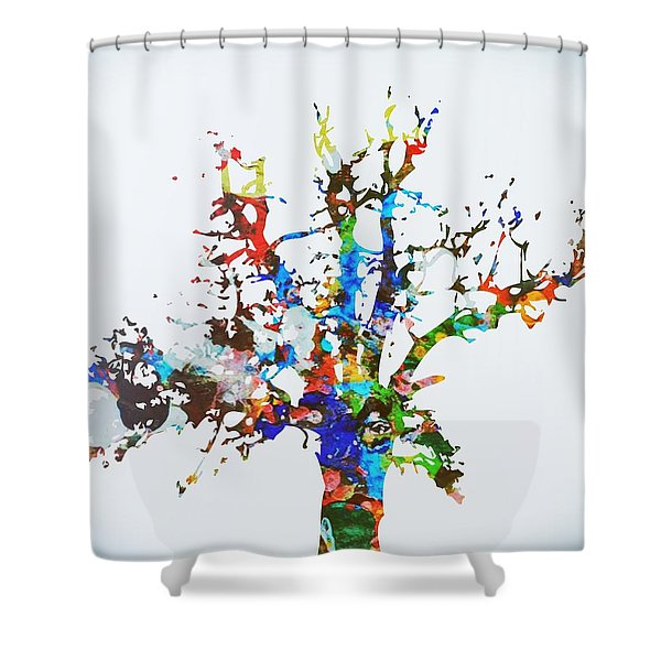 Shower Curtain featuring the painting Tree Of Life by Mark Taylor