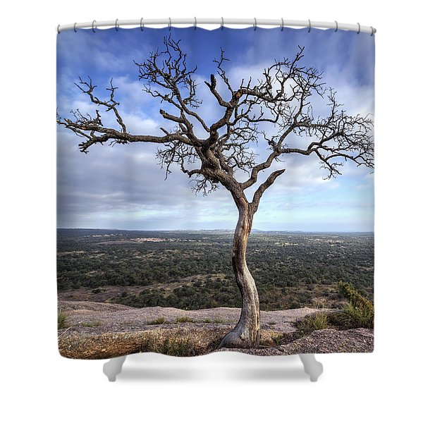 Tree On Enchanted Rock - Square Shower Curtain