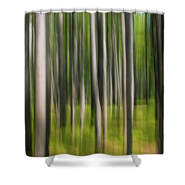 Tree Painting Shower Curtain
