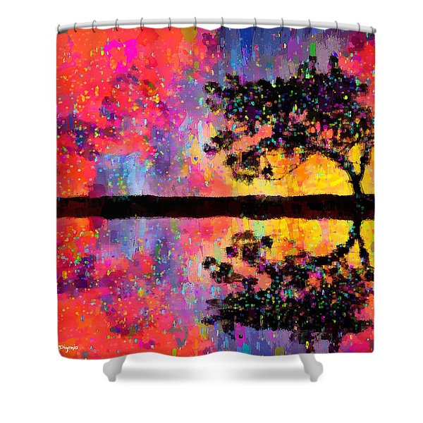 Tree Reflection - Da Shower Curtain