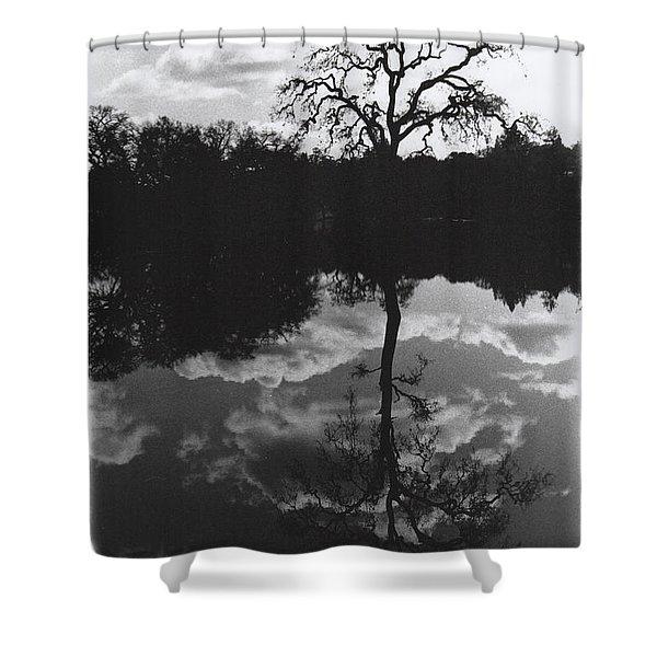 Tree Reflection Sebastopol Ca, Shower Curtain