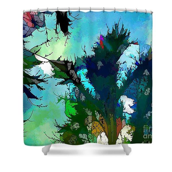 Tree Spirit Abstract Digital Painting Shower Curtain