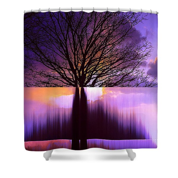 Disturbing The Rule Of Thirds Shower Curtain