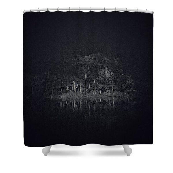 Treeflection Shower Curtain
