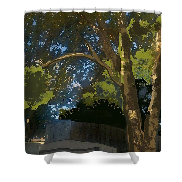 Trees In Park Shower Curtain