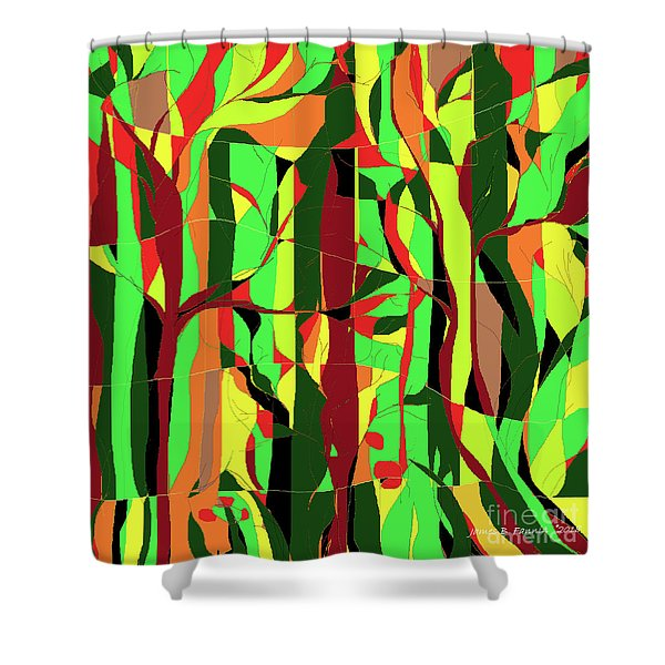 Trees In The Garden Shower Curtain
