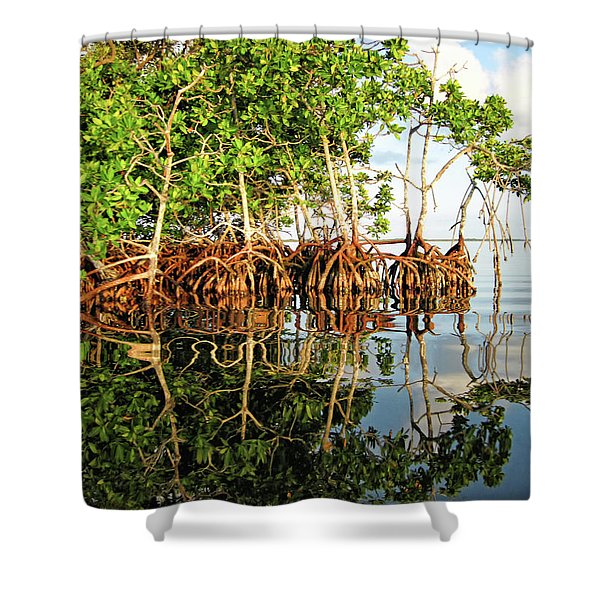 Trees In The Sea Shower Curtain
