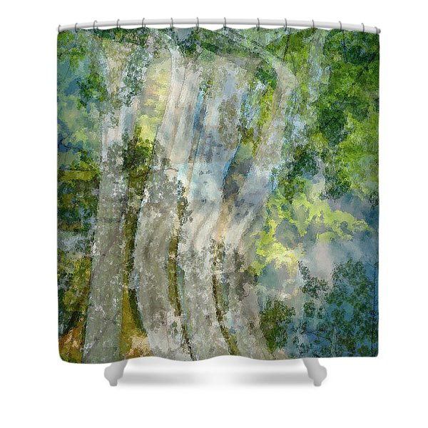 Trees Over Highway Shower Curtain