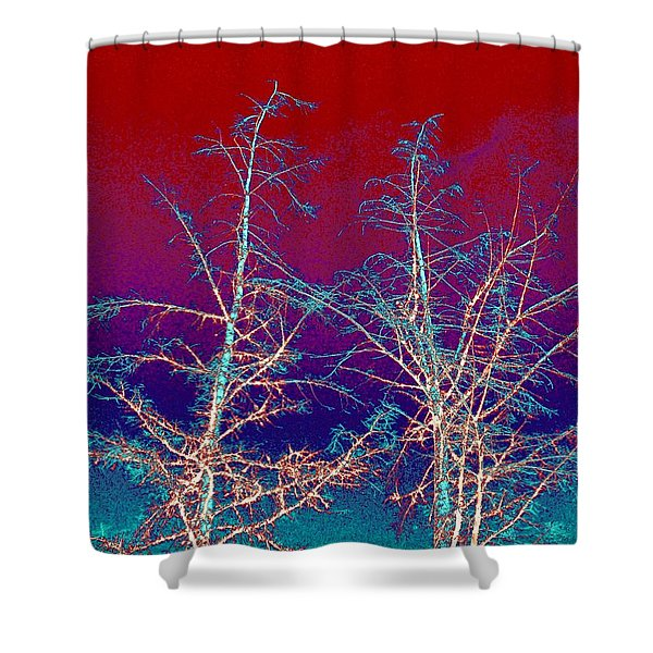 Treetops 4 Shower Curtain