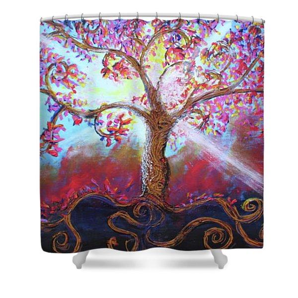 Treevelation Shower Curtain