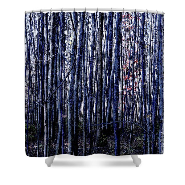 Treez Blue Shower Curtain