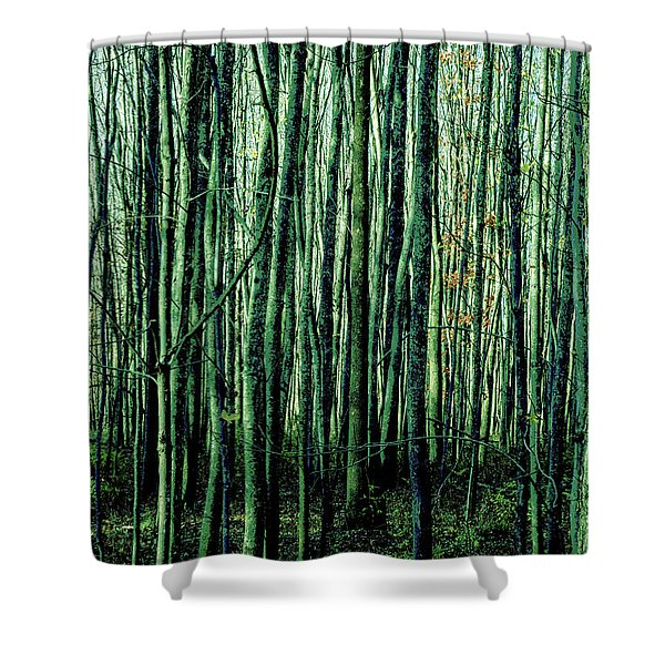 Treez Green Shower Curtain