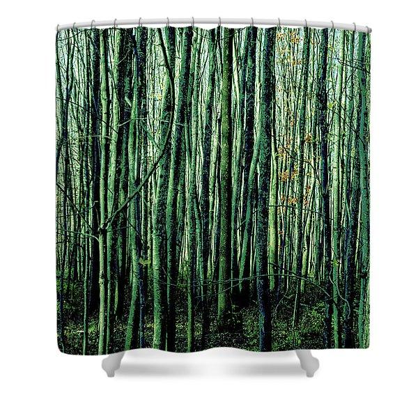 Treez Green Shower Curtain