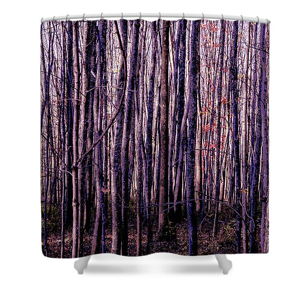 Treez Magenta Shower Curtain