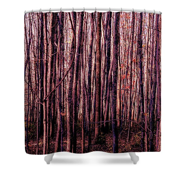 Treez Red Shower Curtain