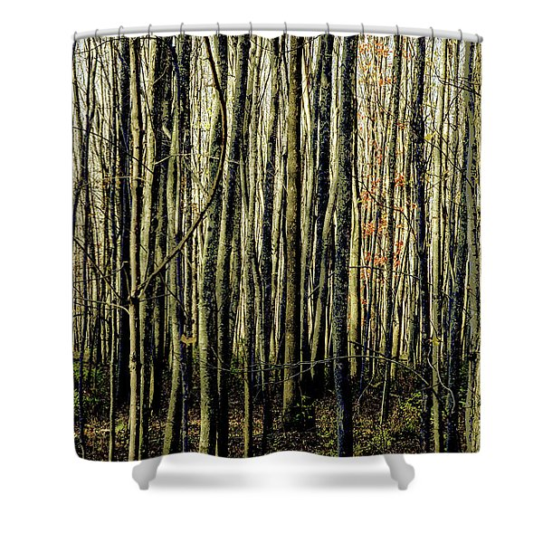 Treez Yellow Shower Curtain