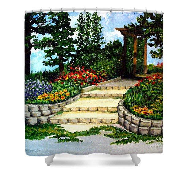 Trellace Gardens Shower Curtain