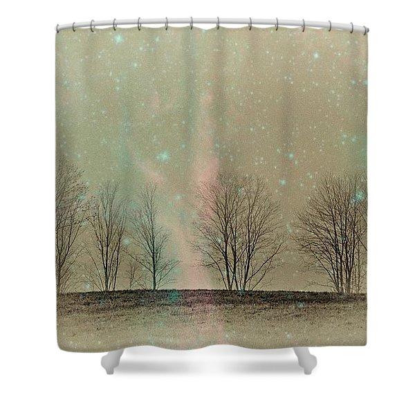Tress In Starlight Shower Curtain