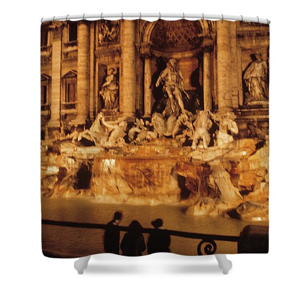 Trevi At Night Shower Curtain
