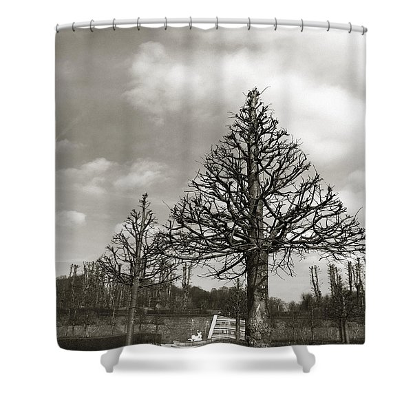 Triangle Trees Shower Curtain