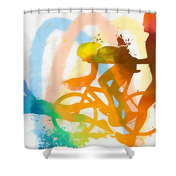 Triathlon Poster Shower Curtain