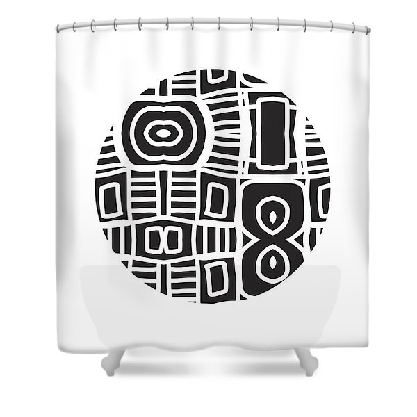 Tribal Ball- Art By Linda Woods Shower Curtain