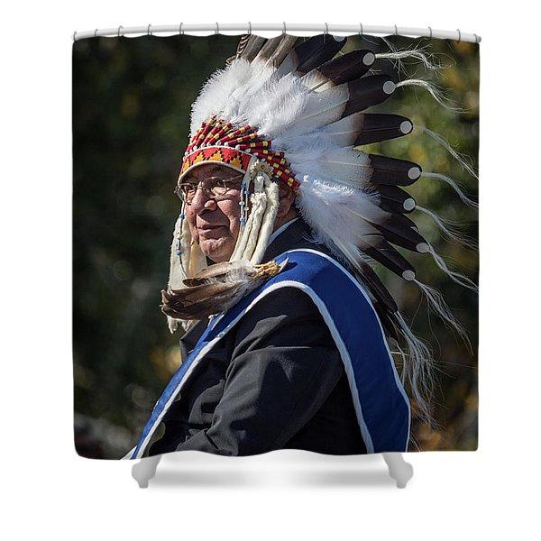 Tribal Elder Shower Curtain