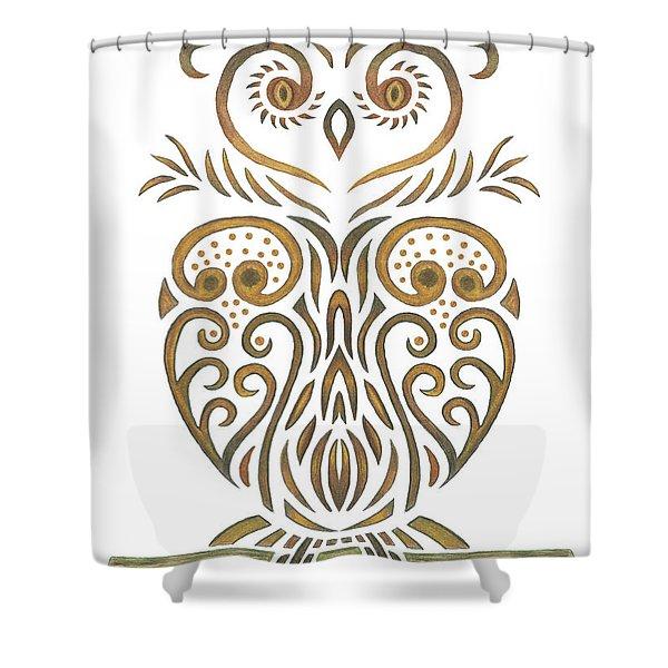 Tribal Owl Shower Curtain