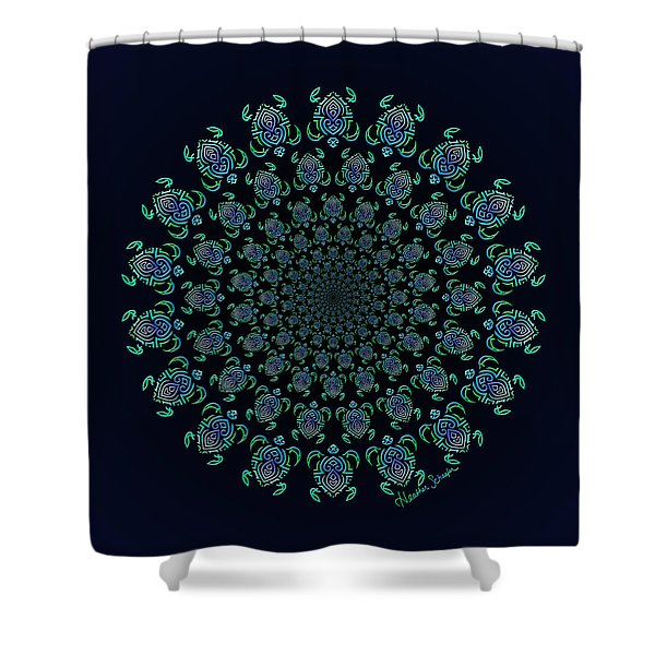 Tribal Turtle Tunnel Shower Curtain
