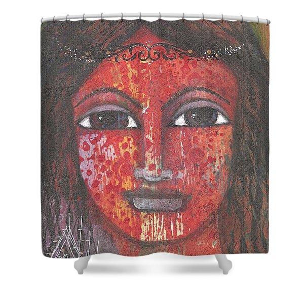 Tribal Woman Shower Curtain