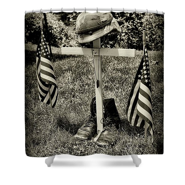 Tribute In Black And White  Shower Curtain