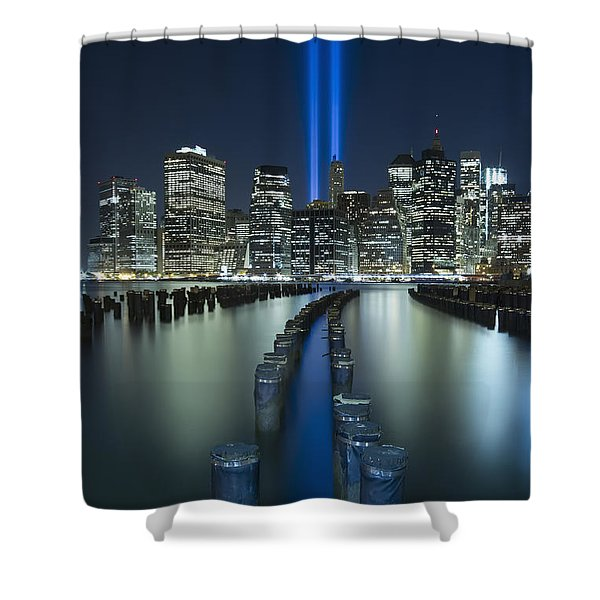 Tribute In Light Shower Curtain by Evelina Kremsdorf