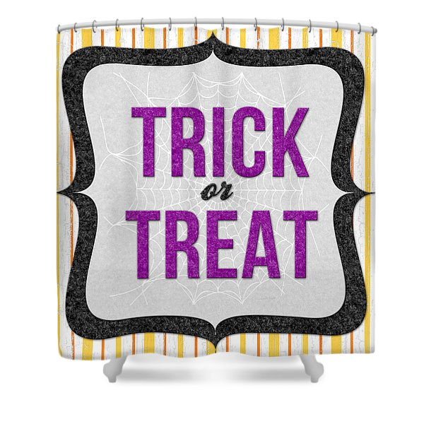 Trick Or Treat- Art By Linda Woods Shower Curtain